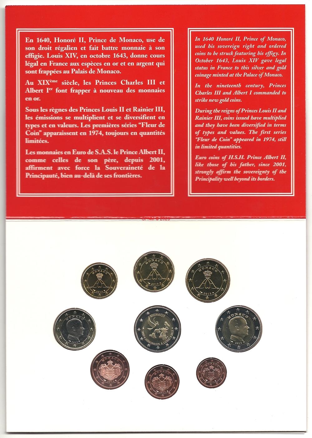 Euros monaco mc bu 09 - Comptoir numismatique monaco ...