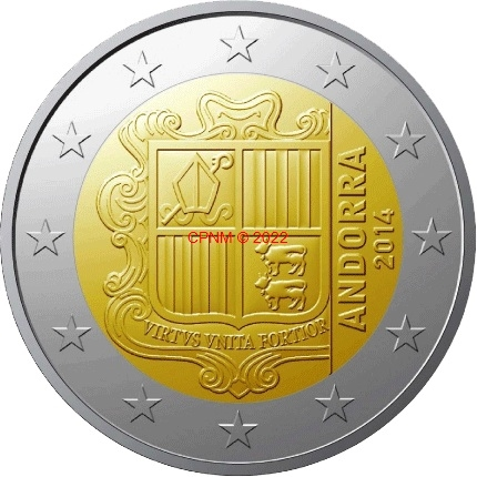 Euros andorre and 10 cts 14 - Comptoir numismatique monaco ...